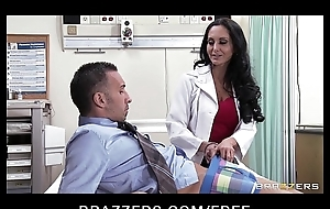 Big-tit brunette slut doctor Ava Addams rides patient'_s dick anal