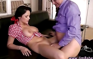 Doyenne guy and younger babe lady-love and oral