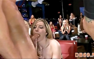 Girl receives drilled while the brush friends