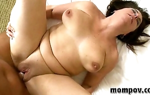 brunette milf fucks and sucks
