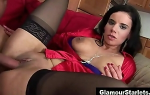 Opulent dirty harpy shows ass creampie
