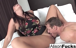 Alison hires a friend for the sundown who gives her a approving fuck