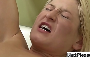 Blonde babe gets analized by a black bushwa