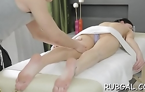Beggar delivers licking and banging to a shaved pussy