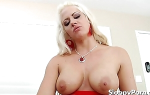 Dominate femdom Holly Heart strapon sex