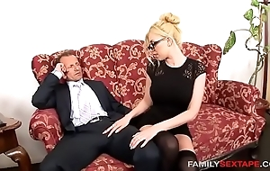 Careless stepdaughter is daddys grouchy secretary