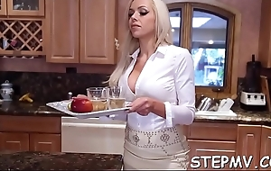 Stepmom shows off her moves with a hot smile on her manifestation