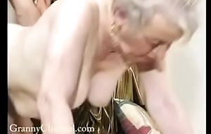 Fancy old grandma gets fucked thither her house.