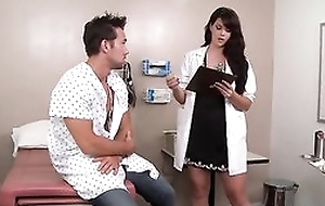 Blue dark haired doctor loves fucking the brush patients