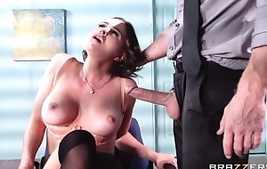 Buxom brunette bonks her new boss during the interview