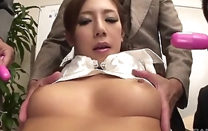 Lubricious Japanese lady acquires fucked fixed in the office