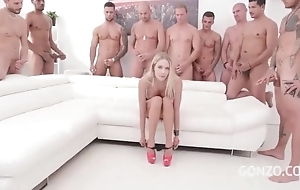 Kinky Czech toddler gets gang group-fucked in the lousy locality