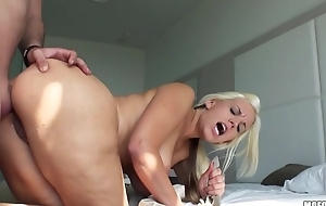 Lustful blonde MILF gets an intense anal pounding