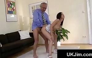 Booty young knockout moans like slut with grandpas fat cock