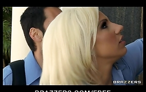 Sexy blonde paramedic Lylith Lavey fucks patient in regard all over his life