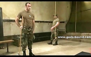Strong soldier with huge muscles sex